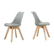 Mirage Mid Century Modern Side Chairs, Set of 2, Gray