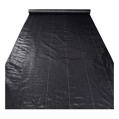Landscape Fabric 2.95Oz Weed Barrier Woven Pp Uv Treated Ground Cover, 6'x250'
