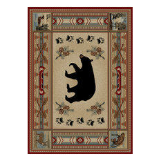 "Woodlands Bear Rug, 26""x39"""