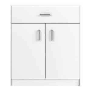 Shoe Storage Cabinet, White Painted MDF With Drawers, Simple Modern Design