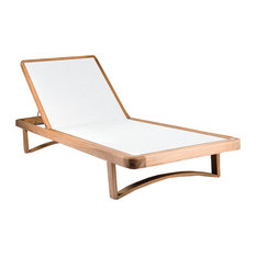 OASIQ Limited 300 Teak Chaise With White Mesh