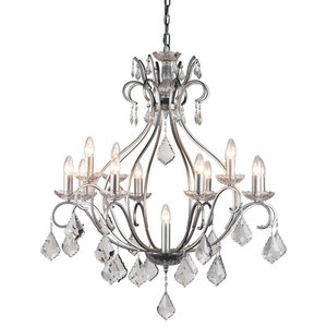 Pazzi 13-Light Brushed Silver Chandelier