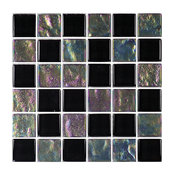 "12""x12"" Glass Tile Blends Twilight Series, Black"