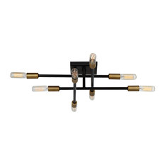 Savoy House Lyrique 8-Light Ceiling Light in Bronze w/ Brass Accents