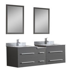 "Dawn 60"" Gloria Series Wall Mount Vanity Set"