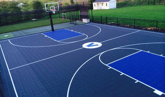 Backyard Basketball Court with attached Turf Field