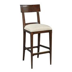Bar Stool Woodbridge Beige Linen Upholstered