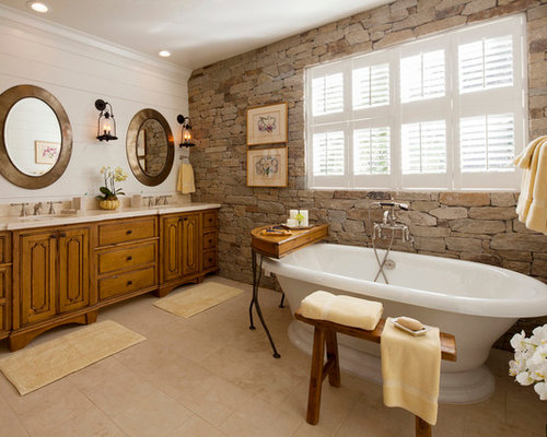 SaveEmail. Houzz   Stone Wall Bathroom Design Ideas   Remodel Pictures