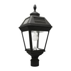 """Imperial Solar Lamp,GS Solar Light Bulb, 3"""" Fitter, Black Finish"""