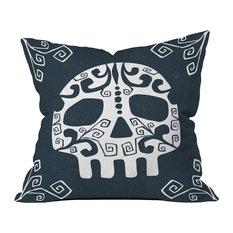 """Heather Dutton Mascara De Muerte Throw Pillow, 16""""x16"""""""