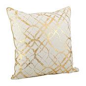 Lustrous Metallic Foil Throw Pillow, Gold