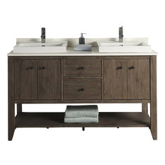 "Fairmont Designs River View 60"" Double Vanity Coffee Bean Base Cabinet Only"