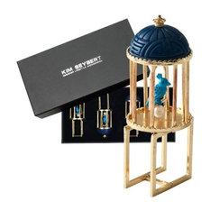 Kim Seybert Set of 4 Turquoise and Blue Silk Road Napkin Rings