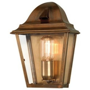 Traditional Outdoor Wall Lantern, Brass