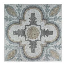 SomerTile  Llanes Perla Ceramic Floor and Wall Tile, Case of 9, Granada