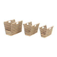 Craftsman Rectangular Wicker Baskets, 3-Piece Set