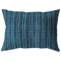 TEAL CORONADO Indoor|Outdoor Lumbar Pillow By Becky Bailey