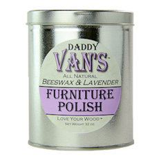 Daddy Van's All Natural Beeswax and Lavender Furniture Polish 32oz Economy Tin