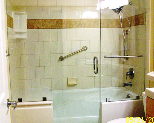 E\Z Step Tub To Shower Conversion With A Frameless Shower Door Upgrade