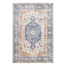 nuLOOM Vintage Jacquie Floral Traditional Transitional Area Rug, Blue 10' x 14'