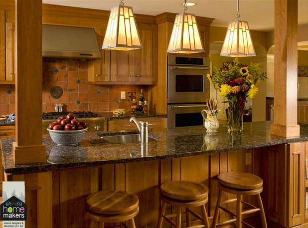 American Traditional Kitchen by home makers interior designers & decorators p ltd