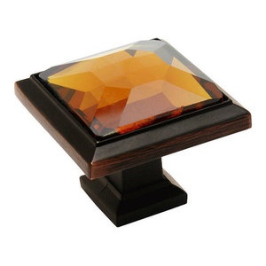 *20 Pack* Cosmas 5317ORB-A Oil Rubbed Bronze /& Amber Glass Round Cabinet Knob