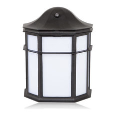 Most popular dusk to dawn outdoor wall lights and sconces for 2018 maxxima maxxima maxxima outdoor led wall light lantern style decorative outdoor sconce workwithnaturefo