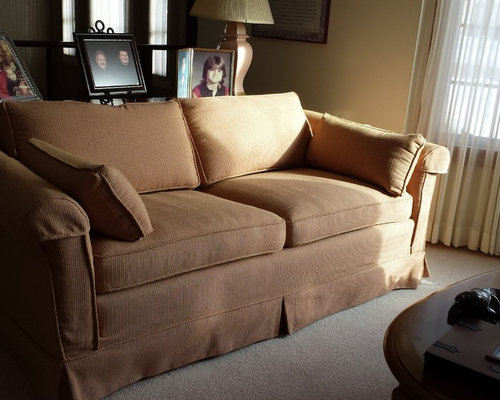 Brown Slipcovered Chair - Slipcovers And Chair Covers