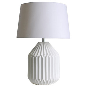 Liviko Table Lamp, White