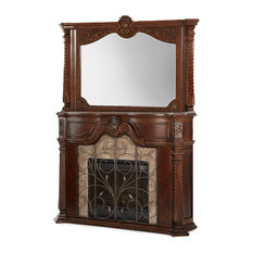 Michael Amini   Windsor Court Fireplace And Mirror With Electric Heater    Indoor Fireplaces