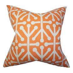 Heath Geometric Pillow, Orange
