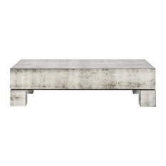 Phineas Industrial Loft Antiqued Mirror Coffee Table Coffee Tables