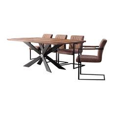 Georgio Large Modern Wood Veneer Dining Table