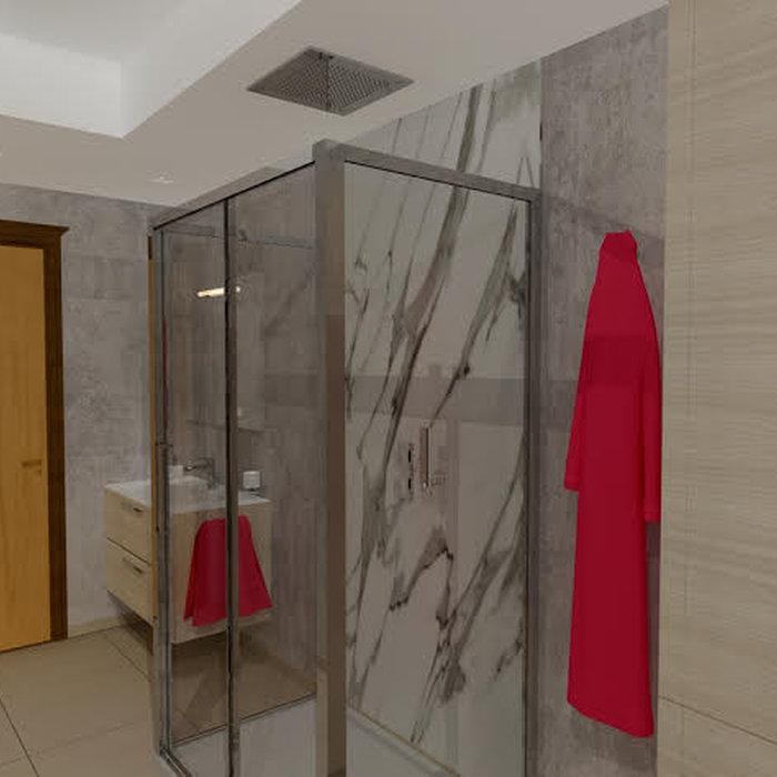 Formula chiavi in mano per bagno in effetto cemento naturale | 10 MQ