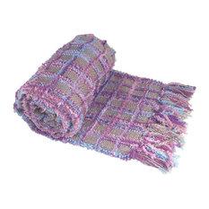 Multi Color Chenille Throw, Purple