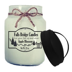 Apple Blossom Scented Jar Candles, 26-Ounce, Handle Lid