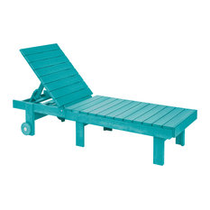 Generations Chaise Lounge With Wheels, Turquoise