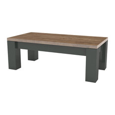 Scacco Extendable Table, Anthracite and Pine Finish