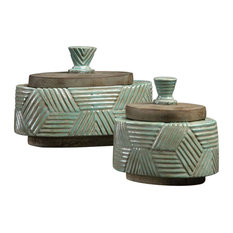 Uttermost 18776 Uttermost Ruth Ceramic Boxes S/2