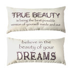 Motivational Dream Ivory Bedroom Doublesided Pillow for Teens/Women/Girls