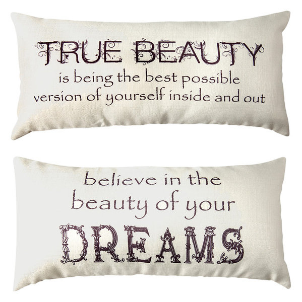 Motivational Dream Ivory Bedroom Doublesided Pillow For TeensWomen Magnificent Decorative Pillows For Teens