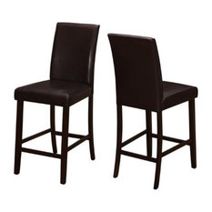 Pemberly Row 25-inch Counter Stool In Brown (Set Of 2)