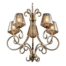 Mercury glass chandeliers houzz justice design group llc fusion victoria uplight chandelier inverted cone with mercury glass aloadofball Choice Image
