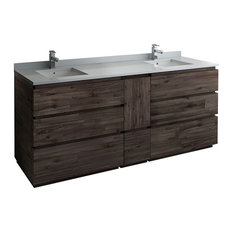 Fresca Formosa 82-inch Floor Standing Double Sink Bathroom Cabinet Only.