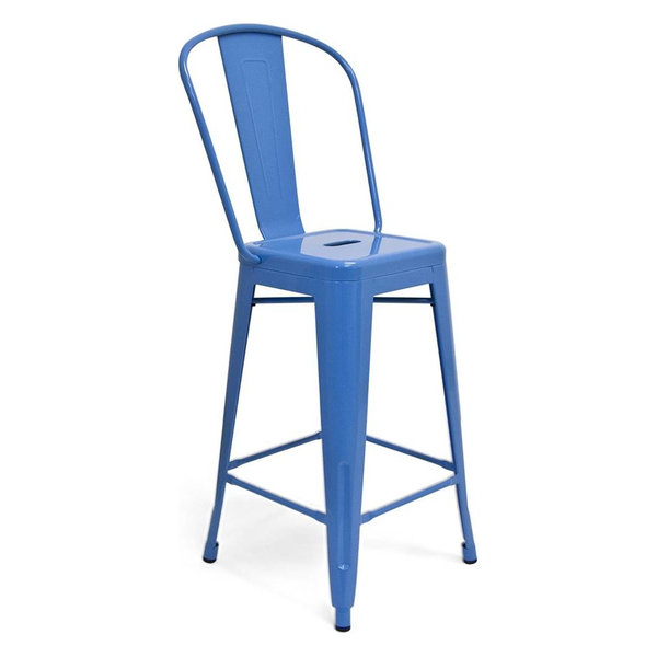 Counter Stool, Blue, Set of 2
