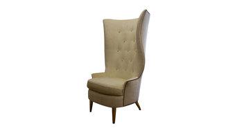 Gudinna Barrel Tall Wing Chair