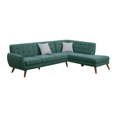 Infini - Modern Retro Sectional Sofa, Laguna - Sectional Sofas
