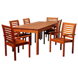 Contemporary Outdoor Dining Sets by International Home Miami Corp