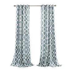 half moon edward window curtain set blue curtains