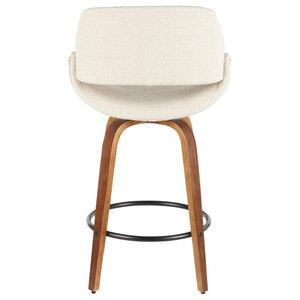 Farro Cream Upholstered Counter Stools, Set of 2